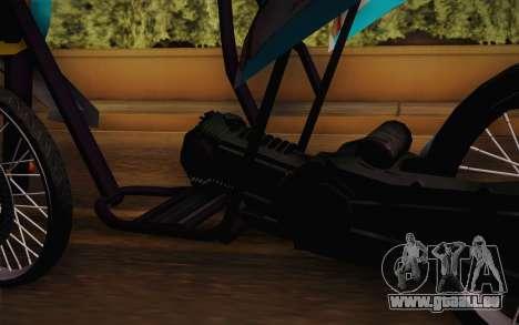 Fino Drag pour GTA San Andreas sur la vue arrière gauche
