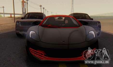 Mclaren MP4-12C Spider Sonic Blum für GTA San Andreas Seitenansicht
