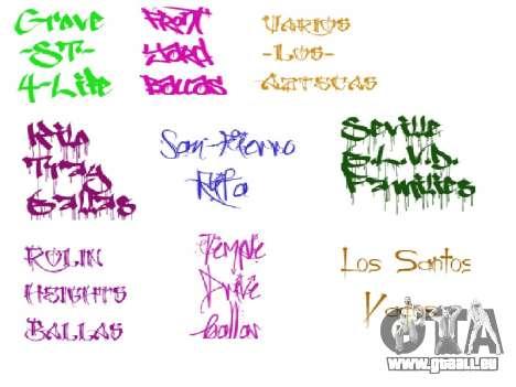 De nouveaux graffitis pour GTA San Andreas