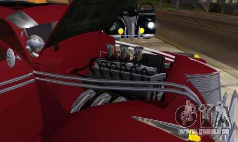 Lincoln Zephyr 1946 pour GTA San Andreas sur la vue arrière gauche