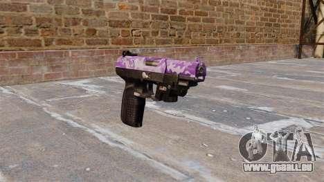 Pistolet FN Cinq à sept LAM Violet Camo pour GTA 4
