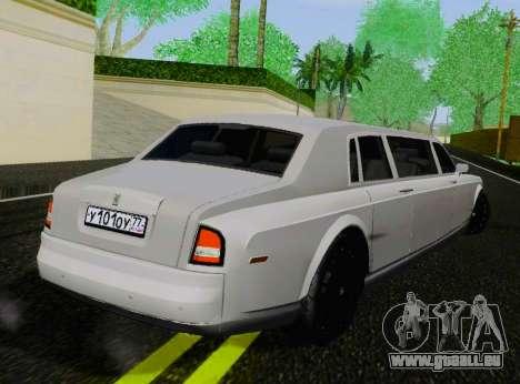 Rolls-Royce Phantom Limo für GTA San Andreas zurück linke Ansicht