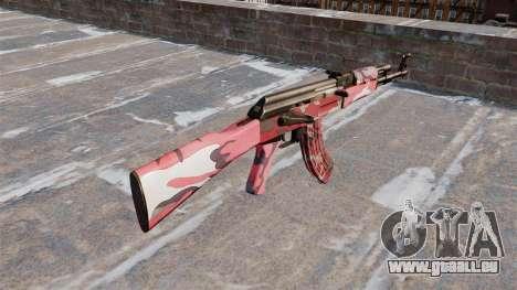 Die AK-47 städtischen Rot für GTA 4 Sekunden Bildschirm