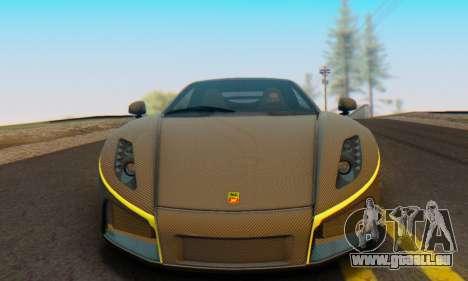 GTA Spano 2014 Carbon Edition pour GTA San Andreas vue de droite