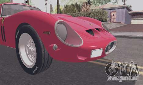 Ferrari 250 GTO 1962 pour GTA San Andreas vue intérieure