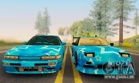 Nissan Silvia S13 Blue Star pour GTA San Andreas vue de droite