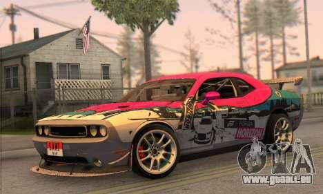 Dodge Challenger SRT8 2012 pour GTA San Andreas sur la vue arrière gauche