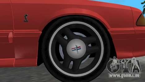 Ford Mustang Cobra 1993 pour une vue GTA Vice City de la droite