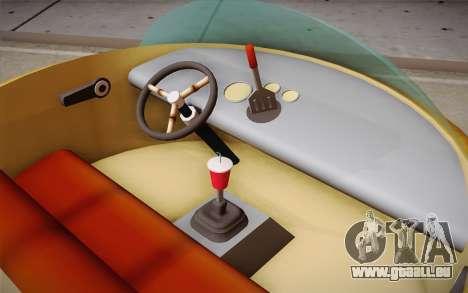 Spongebobs Burger Mobile für GTA San Andreas zurück linke Ansicht