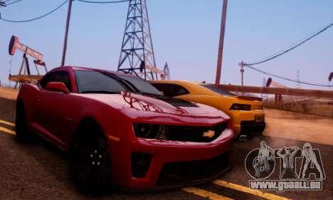 Chevrolet Camaro ZL1 2014 pour GTA San Andreas vue de côté