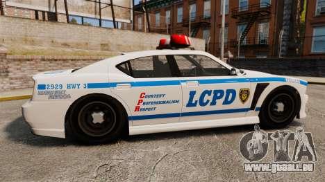GTA V Bravado Buffalo LCPD für GTA 4 linke Ansicht