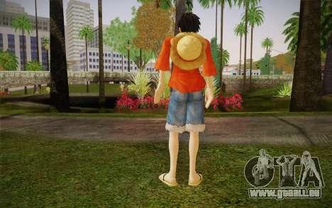 One Piece Monkey D Luffy pour GTA San Andreas deuxième écran