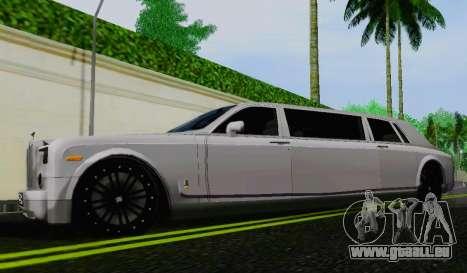 Rolls-Royce Phantom Limo pour GTA San Andreas laissé vue
