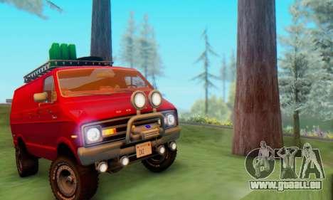 Dodge Tradesman Van 1976 pour GTA San Andreas sur la vue arrière gauche