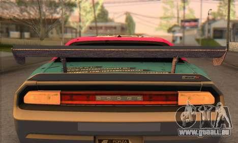 Dodge Challenger SRT8 2012 pour GTA San Andreas vue intérieure