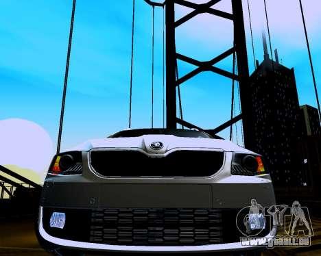 Skoda Octavia Combi A7 für GTA San Andreas Rückansicht