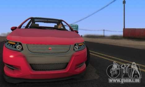 Cheval Surge V1.0 pour GTA San Andreas sur la vue arrière gauche