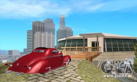 Lincoln Zephyr 1946 pour GTA San Andreas laissé vue
