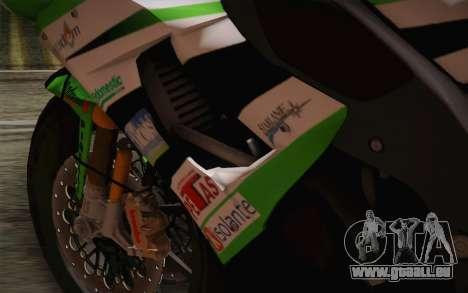 Kawasaki ZX-10R Ninja für GTA San Andreas Innenansicht