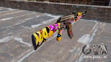 Die AK-47 Graffiti für GTA 4 Sekunden Bildschirm