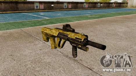 Machine Steyr AUG A3 Optique d'Or pour GTA 4