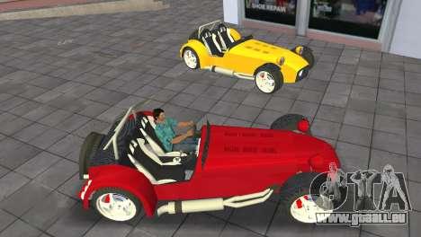 Caterham Super Seven pour une vue GTA Vice City de la droite