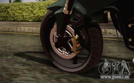 Yamaha FZ6 pour GTA San Andreas sur la vue arrière gauche