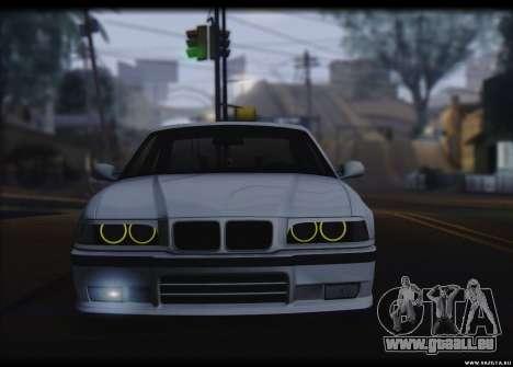 BMW M3 pour GTA San Andreas sur la vue arrière gauche