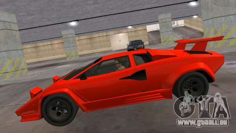 Lamborghini Countach LP5000 Extreme für GTA Vice City zurück linke Ansicht