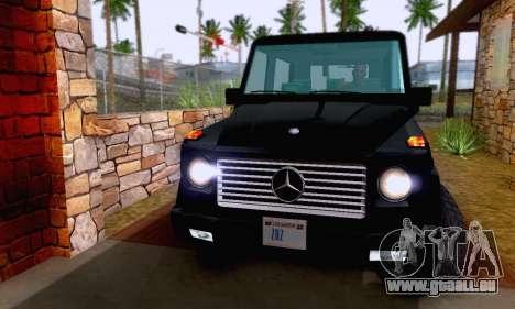 Mercedes-Benz G500 1999 Short pour GTA San Andreas vue de côté