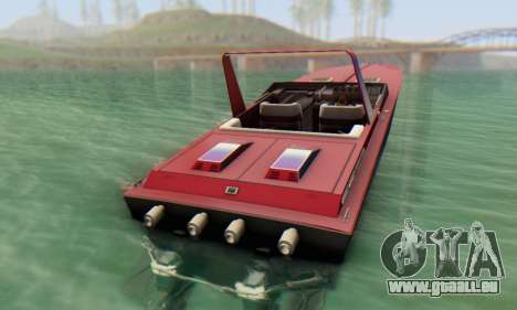 Wellcraft 38 Scarab KV pour GTA San Andreas sur la vue arrière gauche