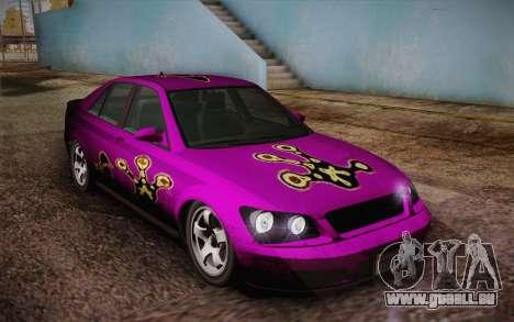 Sultan из GTA 5 pour GTA San Andreas vue de dessous