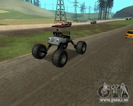 Caddy Monster Truck für GTA San Andreas linke Ansicht