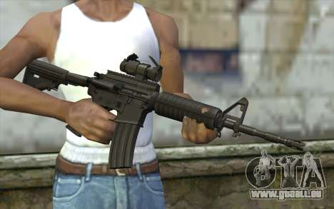 Ricks M4A1 from The Walking Dead S3 pour GTA San Andreas troisième écran