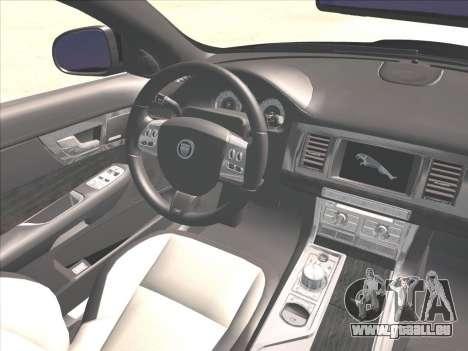 Jaguar XFR pour GTA San Andreas vue de côté