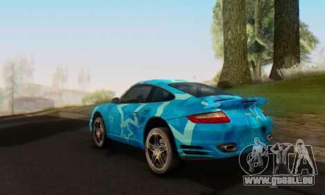 Porsche 911 Turbo Blue Star für GTA San Andreas Rückansicht