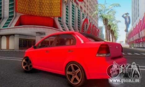 DeClasse Asea V1.0 pour GTA San Andreas vue intérieure