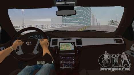 Cadillac Escalade ESV Luxury 2012 pour GTA Vice City sur la vue arrière gauche