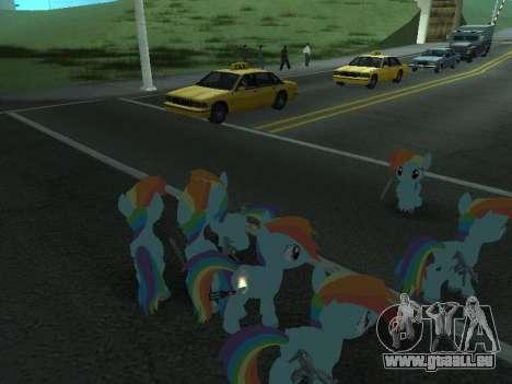 Rainbow Dash pour GTA San Andreas huitième écran