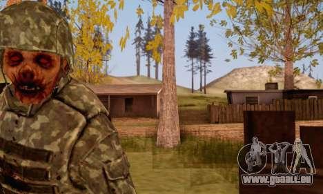 Zombie Soldier pour GTA San Andreas quatrième écran