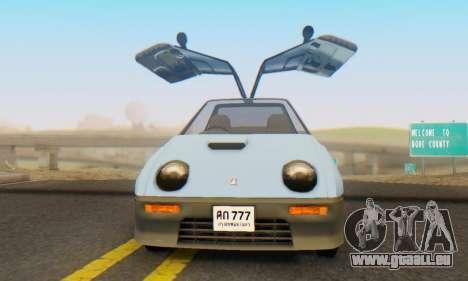 Mazda Autozam AZ-1 pour GTA San Andreas vue arrière
