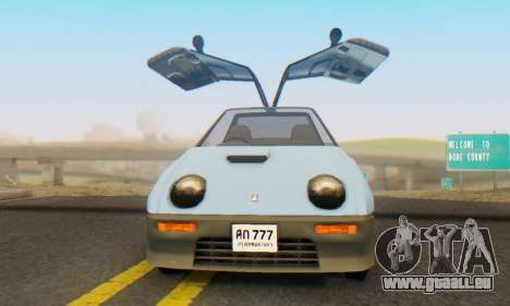 Mazda Autozam AZ-1 für GTA San Andreas Rückansicht