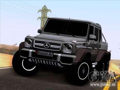 Mercedes-Benz G65 AMG 6X6 pour GTA San Andreas vue intérieure