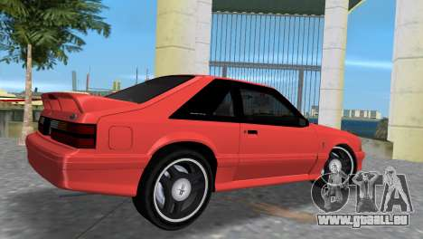 Ford Mustang Cobra 1993 pour GTA Vice City sur la vue arrière gauche