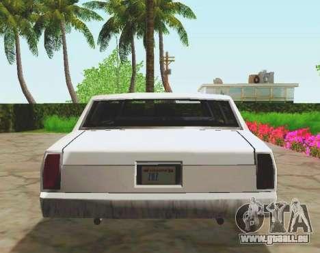 Tahoma Limousine pour GTA San Andreas vue arrière