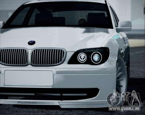 BMW Alpina B7 pour GTA San Andreas sur la vue arrière gauche