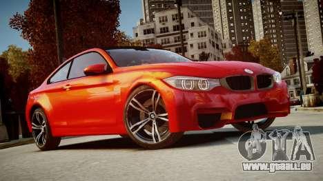 BMW M4 Coupe 2014 v1.0 pour GTA 4 Vue arrière