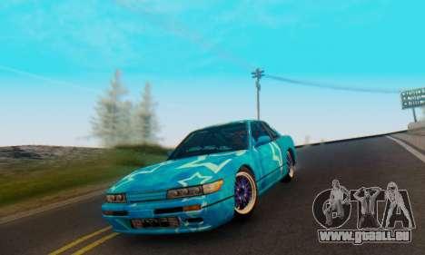 Nissan Silvia S13 Blue Star pour GTA San Andreas vue de côté