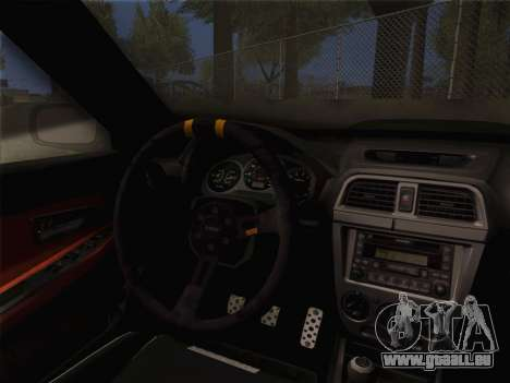 Subaru Impreza Hellaflush pour GTA San Andreas vue de droite