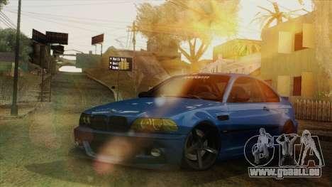 BMW M3 E46 STANCE für GTA San Andreas Innenansicht